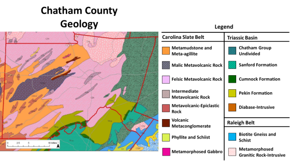 chatham county geology